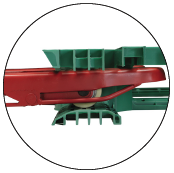 The guide ski on the fork tips provide smooth operation on plastic resin pallets
