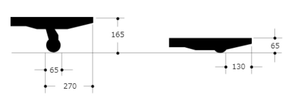 NDL10・15・25 Lowboy type Dimensions